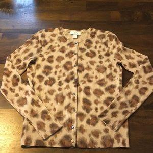 Like new! XS loft leopard cardigan